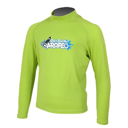 UV παιδική λύκρα μπλούζα με μακρύ μανίκι λάιμ Aropec