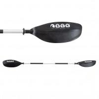 One-piece kayak paddle 219cm Aluminum reinforced SCK