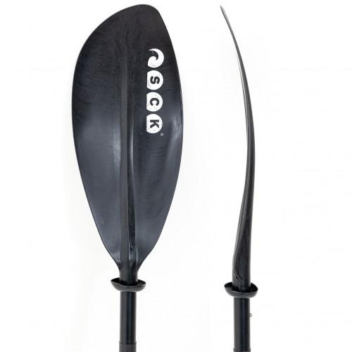 Kayak paddle divided in 4 pieces 220cm Aluminium SCK Black