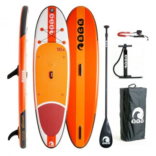 SCK inflatable SUP/windsurf ωmega 10'8'' package