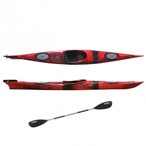 Dreamer Plus single sit-in kayak by SCK with paddle Red / Black