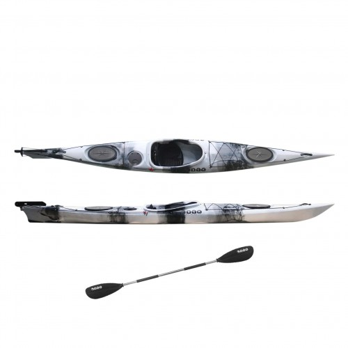 Dreamer Plus single sit-in kayak by SCK with paddle White / Black