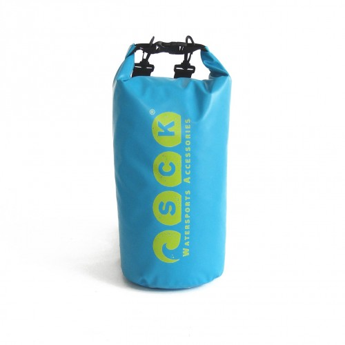 Waterproof bag 15L with back straps blue
