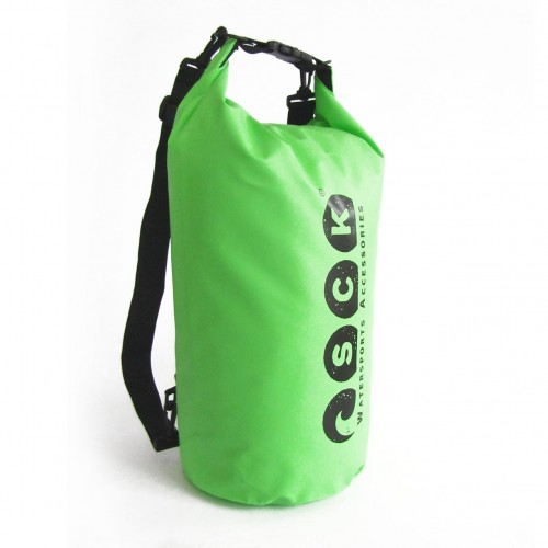 Waterproof bag 20L with back straps green