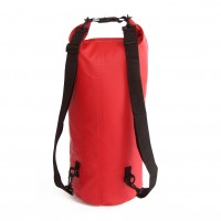 Waterproof bag 30L with back straps red