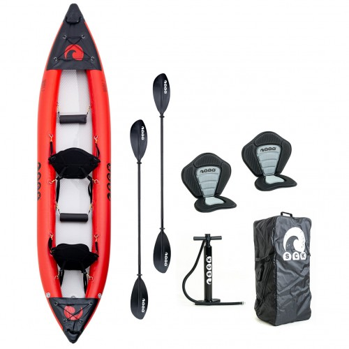 SCK NAVALE 2 double seat inflatable kayak with drop-stitch bottom