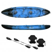 Nereus sea Kayak 2+1 seats SCK with 2 paddles and 2 backrest