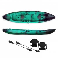 SCK Nereus sea Kayak 2+1 seats - Green/Black