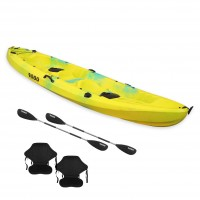 Nereus sea Kayak 2+1 seats SCK with 2 paddles and 2 backrest Yellow / Blue