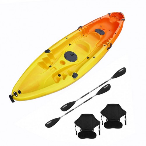 Nereus V19 sea Kayak 2+1 seats SCK with 2 paddles and 2 backrest Yellow / Orange