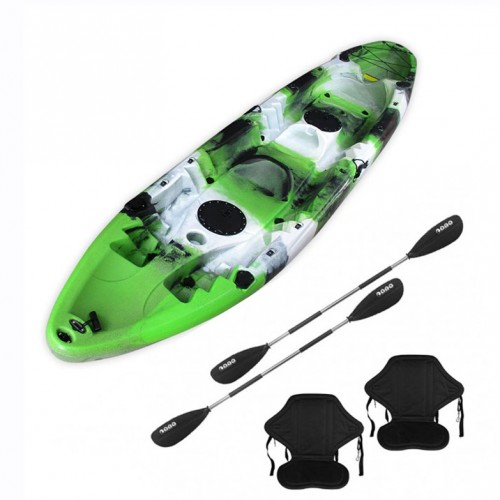 Nereus V19 sea Kayak 2+1 seats SCK with 2 paddles and 2 backrest Green / White / Black
