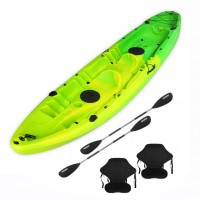 Nereus V19 sea Kayak 2+1 seats SCK with 2 paddles and 2 backrest Yellow / Green