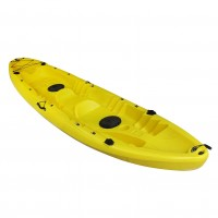 Nereus V19 sea Kayak 2+1 seats SCK with 2 paddles and 2 backrest Yellow
