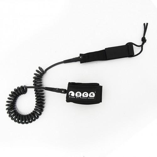 SUP leash coil 10ft SCK - Black