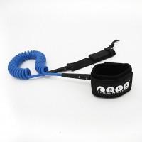 SUP leash coil 10ft SCK - Blue