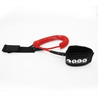 SUP leash coil 10ft SCK - Red