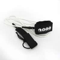 SUP leash straight 10ft SCK - White