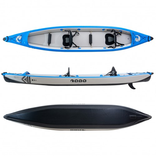"SCK VELOCE 15'5"" double seat full drop-stitch inflatable kayak"