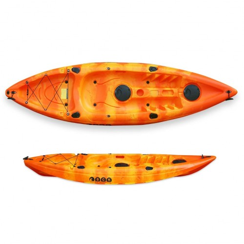 SCK Conger single seat fishing kayak - Red/Yellow