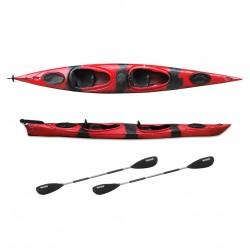 HUG sit-in kayak 2 person SCK with 2 paddles Red / Black