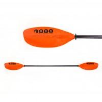 Kayak Paddle Adjustable 215-235cm Fiberglass Orange SCK