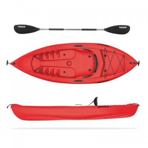 Seaflo FAT BOY - Single seat kayak with paddle - Red