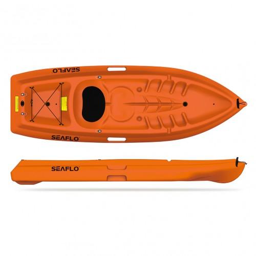 Single seat kayak Seaflo 1+1 with paddle and backrest