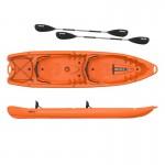 Duorum double kayak 2+2 seats  Seaflo with 2 paddles Orange