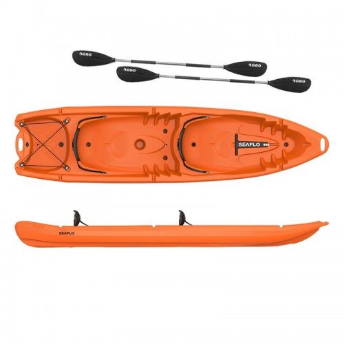 Seaflo DUORUM - Double kayak 2+2 seats with 2 paddles - Orange