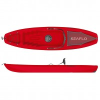 Puny Single Kayak Seaflo with wheel Red