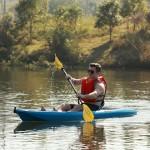 Seaflo Puny Single Kayak with wheel and paddle - Orange