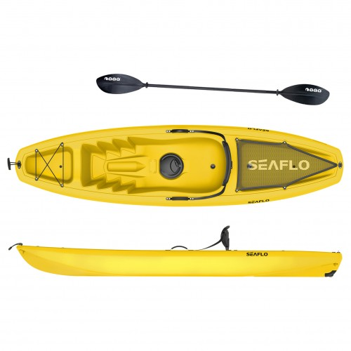 Seaflo Puny single Kayak with wheel and paddle - Yellow