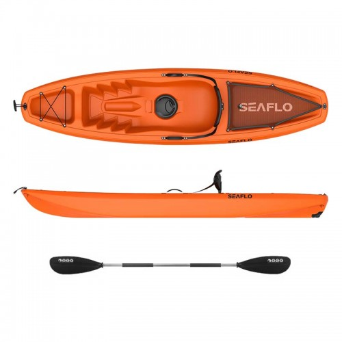 Seaflo Puny Single Kayak with wheel and paddle - Orange