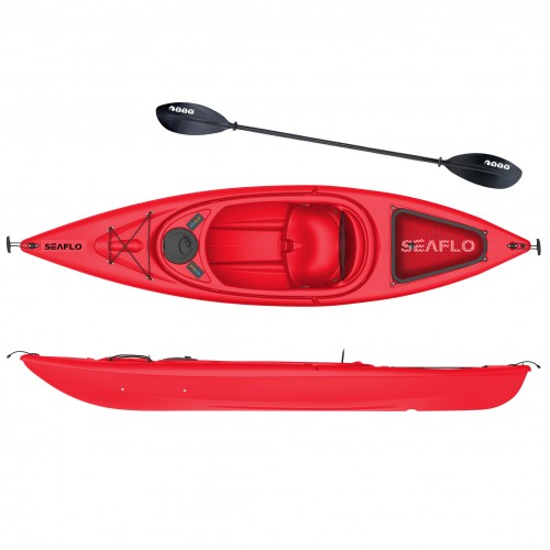 Seaflo Sit-in Kayak with paddle - Red