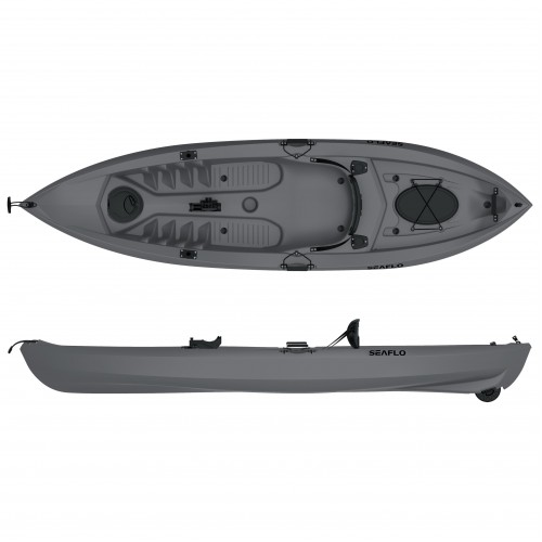 Lupin Single seat fishing kayak with wheel Seaflo