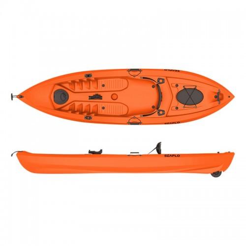 Lupin Single sit fishing kayak with wheel SeafloOrange