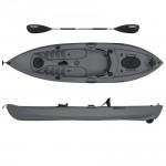 Lupin Single sit fishing kayak with wheel Seaflo with paddle