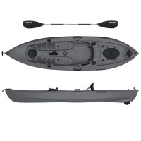 Lupin Single sit fishing kayak with wheel Lupin Seaflo with paddle Grey