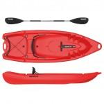 Seaflo Primus 2 single seat kayak  1+1 with paddle - Red