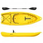 Seaflo Primus 2 single seat kayak  1+1 with paddle - Yellow