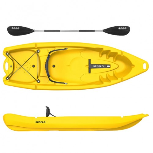 Seaflo Primus 2 single seat kayak  1+1 with paddle - Yellow