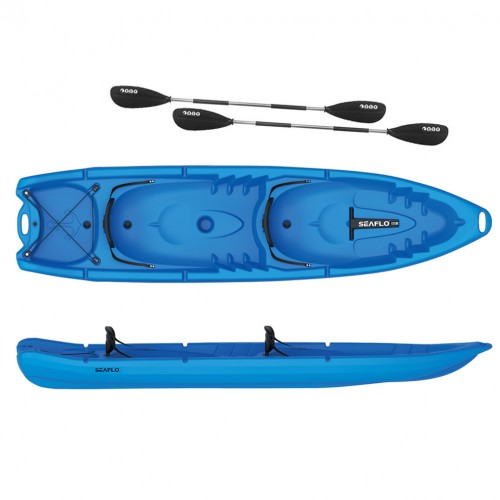Seaflo DUORUM - Double kayak 2+2 seats with 2 paddles - Blue