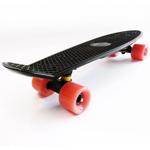 Plastic skateboard 22.5'' Black Fish