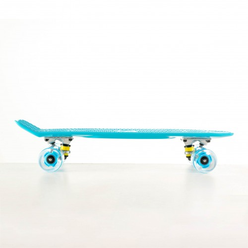 Mini cruiser Plastic skateboard 22.5'' Blue with LED wheels Fish
