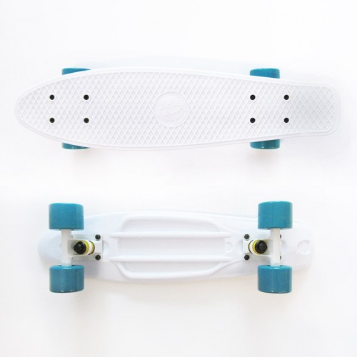 Plastic skateboard 22.5'' White Fish