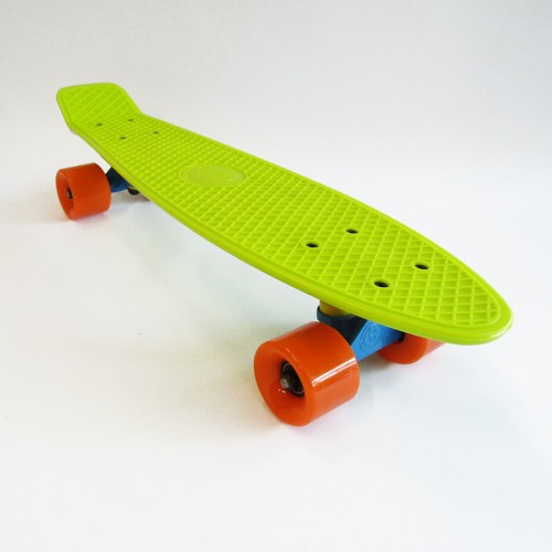 Plastic skateboard 22.5'' Lime Fish