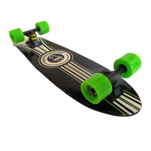 Wood cruiser skateboard 27'' Black Fish