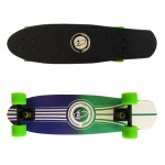 Wood cruiser skateboard 27'' Blue/Green Fish