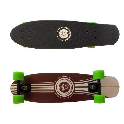 Wood cruiser skateboard 27'' Brown Fish