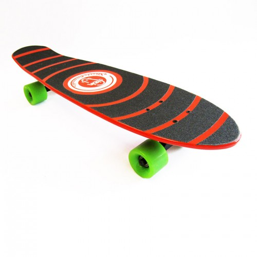 Wood cruiser skateboard 27'' Red Fish
